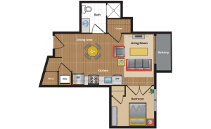 SM Floor Plan - apartments in takoma park