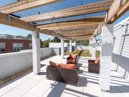 Rooftop Deck in Takoma Park apartments, Metro Village